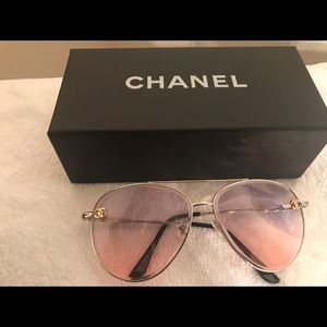 CHANEL Accessories - Chanel Pilot Sunglasses